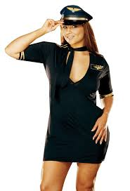 halloween flight attendant costume amazon com dreamgirl women u0027s air pilot costume clothing