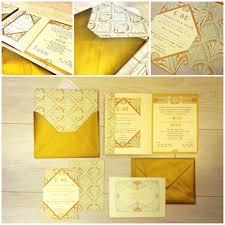 golden mint art deco invitation london wedding planners italy
