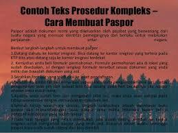 membuat prosedur paspor teks prosedur kompleks
