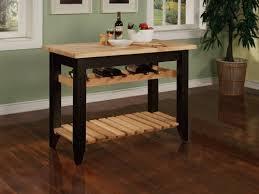 powell color black butcher block kitchen island home decor furnishings contemporary furniture kitchen cart