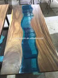 live edge table with turquoise inlay prefinished solid slab wood table top live edge slab table glass