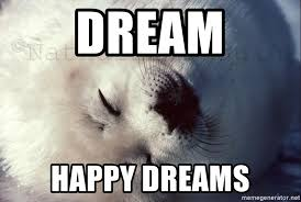 Harp Meme - dream happy dreams happy harp seal meme generator