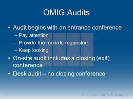 Desk Audit The Office Of The Medicaid Inspector General And Other Friends