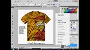 photoshop cs5 bart simpson t shirt youtube