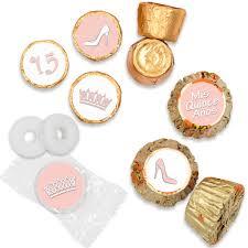 quinceanera favors soft pink quinceanera stickers set of 324 distinctivs