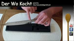 der wo kocht wmf kochmesser 20 cm grand gourmet unboxing