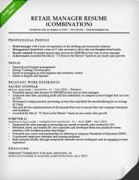 Retail Management Resume Examples by Combination Resume Samples U0026 Writing Guide Rg