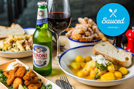scoopon 2 courses u0026 a wine or beer at sauced pasta bar 2 locs