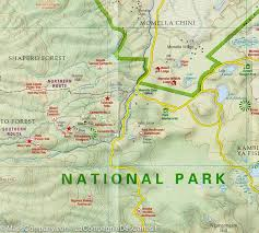 Map Of Tanzania Africa by Hiking Map Of Arusha National Park U0026 Mt Meru Tanzania Harms