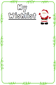 wish list wish list template free printable 28 images 6 best images of