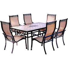 patio table with removable tiles 6 7 person patio dining furniture patio furniture the home depot