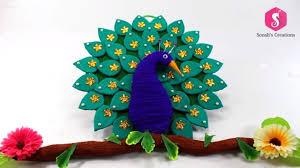 Simple Craft Ideas For Home Decor Cardboard Peacock Wall Hanging For Home Decor Simple Craft Ideas