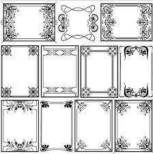 Decorative Frame Png Decorative Vintage Frames 27 Ai Format Free Vector Download