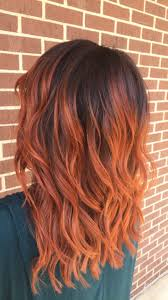 best 25 copper ombre ideas on pinterest red highlights hair