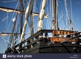 replicas of christopher columbus u0027 ships nina and pinta docked in