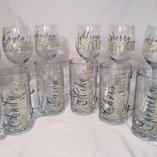 personalized glasses wedding best personalized bridal party glasses products on wanelo