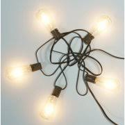 edison string lights better homes and gardens outdoor glass edison string lights 10