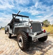 mash jeep jeep wyllis 1948 dotat cu remorca militara mb t si mitraliera