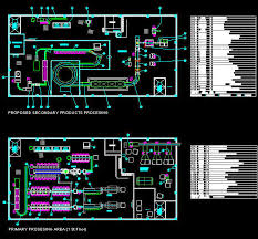 factory layout design autocad cad building template factory fish processing plant equipment