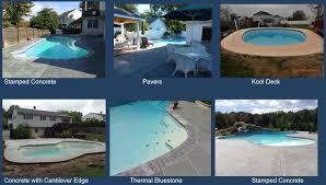 decking crystal blue pool renovation
