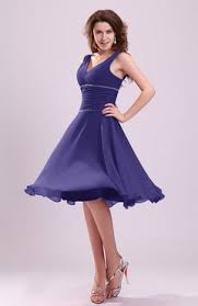 purple dresses for weddings knee length royal purple color bridesmaid dresses uwdress com