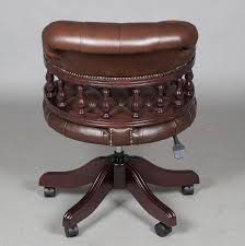 Leather Swivel Club Chairs Captains Style Leather Swivel Desk Chair