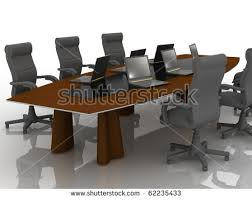 Conference Room Desk Empty Meeting Room Conference Table Stock Illustration 103503449