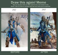 Assassins Creed Memes - draw this again meme assassin s creed 3 connor by seasparkle