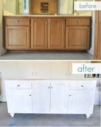 how to turn a base cabinet into a kitchen island bathroom vanity upgrade centsational style diy kitchen