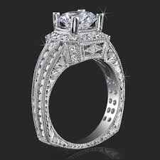 Crown Wedding Rings by Crown Flat Bottom European Style Band With Over 80 Hand Set High