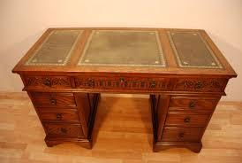 oak writing bureau furniture antique charm oak writing desk green leather top