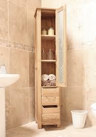 Utopia Bathroom Furniture by Mobel Oak Closed Bathroom Unit Tall Cor19a