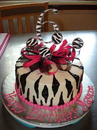 zebra print birthday party cakes image inspiration of cake and