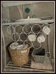 Bathroom Baskets For Storage Bathroom Inspiring White Iron Rack With Rattan Towel Storage