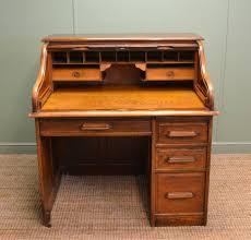 Roll Top Antique Desk Edwardian Oak Roll Top Tambour Front Antique Desk C 1900