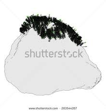 3d render rock stone moss stock illustration 290212766 shutterstock