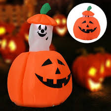 light up pumpkins for halloween inflatable pumpkin halloween decoration light up out indoor