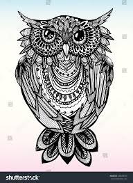 portrait owl owls head abstract bird stock vector 426930070