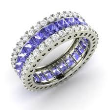 rings with tanzanite images Elqan ring with princess cut tanzanite si diamond 4 69 carat jpg