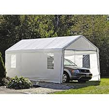 Garage Awning Kit Amazon Com Shelterlogic 10 X 20 Feet Canopy Replacement Cover