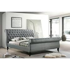 Cheap Canopy Bed Frame Sleigh Platform Bed Frame U2013 Bare Look