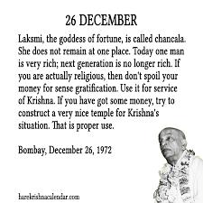 srila prabhupada s quotes for 26 december hare krishna calendar