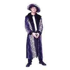 Pimp Halloween Costumes Halloween Costumes Kp Party Supplies Pimp Coat Purple Leopard