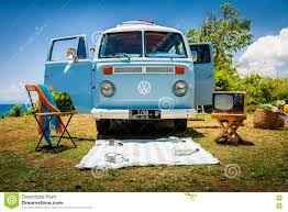 van volkswagen vintage beautiful vintage retro car volkswagen van on the tropical beach