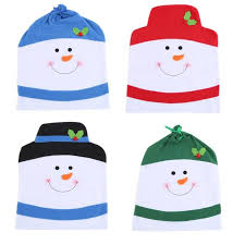 snowman chair covers 4pcs chair cover christmas snowman chair cover set home party