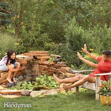 How To Build A Putting Green In My Backyard Build A Backyard Waterfall In One Weekend Family Handyman