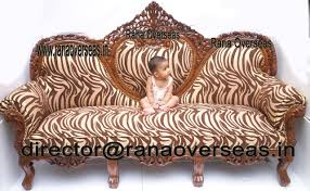 Wood Furnitures In Bangalore Rana Overseas Inc Wooden Hand Carved Sofa Sets With Center Table