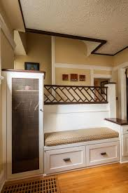 home design built in entryway bench and coat rack backsplash
