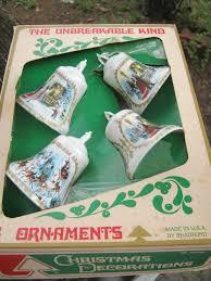 bradford vintage plastic ornaments tree ornament clear