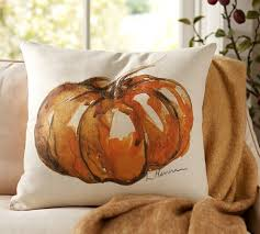 Fall Decorative Pillows - painted pumpkin patch pillow cover 20